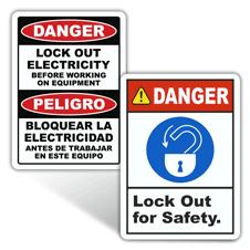 Danger Lockout Tagout Labels
