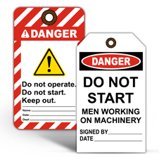 Danger Lockout Tagout Tags