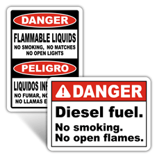 Danger No Open Flame Signs