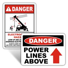 Danger Overhead Power Lines Signs