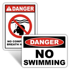 Danger Swimming Signs