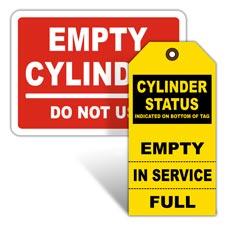 Gas Cylinder Labels