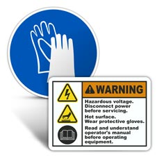 Hand Protection Labels