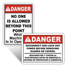 Machinery Operation Signs