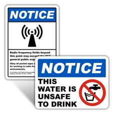 Notice Health Hazard Signs