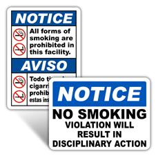 Notice No Smoking Signs