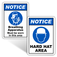 Notice Personal Protection Signs