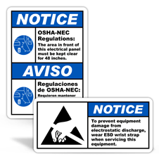 Notice Safety Labels
