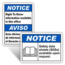 Notice SDS Signs