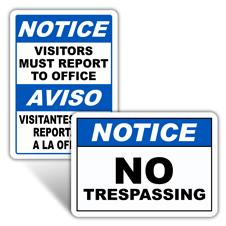 Notice Security Signs