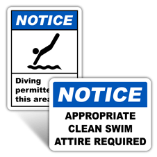 Notice Swimming Signs