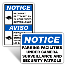 Notice Video Surveillance Signs