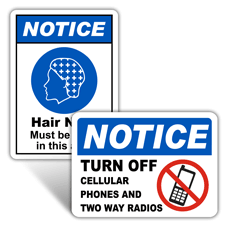 Notice Workplace Signs