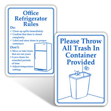 Office Etiquette Signs