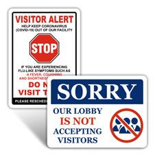 No Visitor Signs