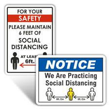 Social Distancing Signs