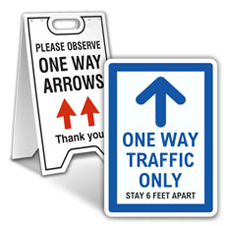 One Way Aisle Signs