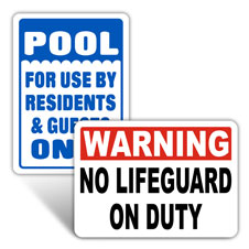 Pool Social Distancing Signs