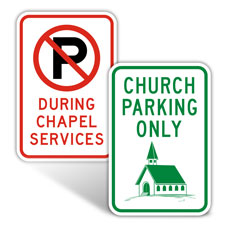 Religious Parking Signs