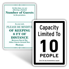 Occupancy Signs
