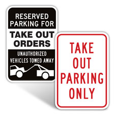 Take Out Parking Signs
