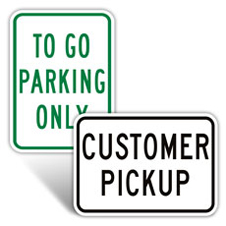 To Go Parking Signs
