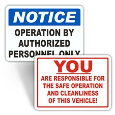 Vehicle Operation Labels