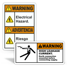 Warning Electrical Safety Labels