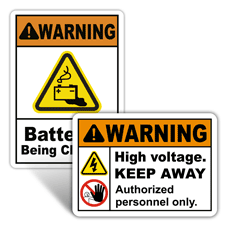 Warning Electrical Safety Signs
