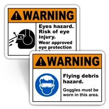 Warning Eye Protection Signs