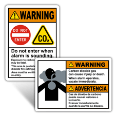 Warning Fire Extinguisher Signs
