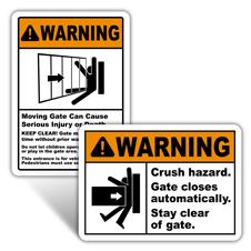 Warning Gate Signs