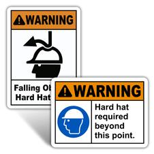 Warning Hard Hat Signs
