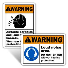 Warning Hearing Protection Signs