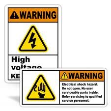 Warning High Voltage Labels