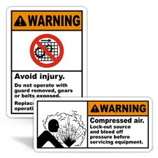 Warning Machine Safety Labels