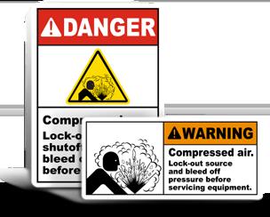 Relief Valve Lockout Labels