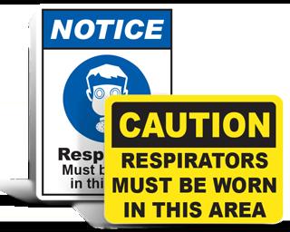 Respirator Signs