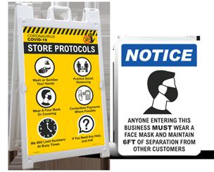 Retail Social Distancing Signs