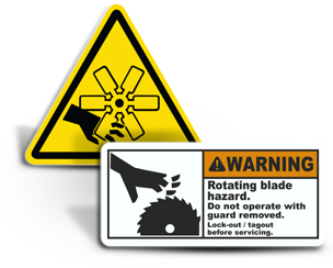 Rotating Parts Hazard Labels