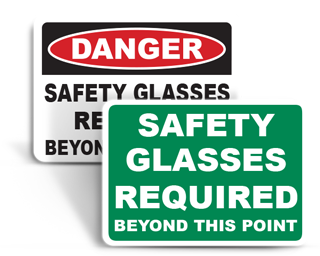 Safety Glasses Required Signs
