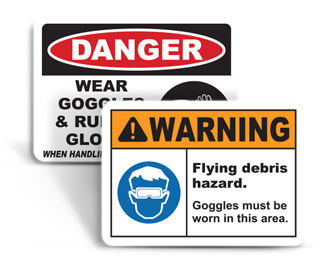 Safety Goggles Signs