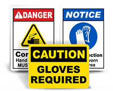Gloves Required Signs