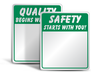 Safety Slogan Mirrors