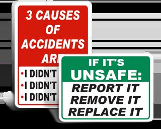 Safety Slogan Signs