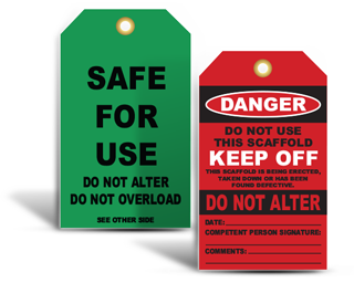 Scaffold Inspection Tags