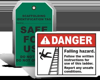 Scaffold / Ladder Safety Signs