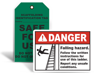 Scaffold / Ladder Safety Signs