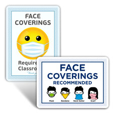 School Face Masks Signs
