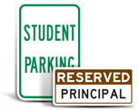 Teacher Parking Signs